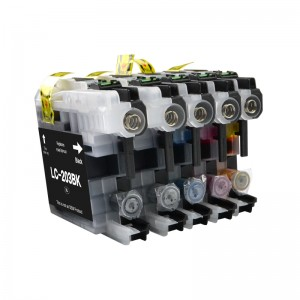 Remnufactured cartridge LC203 high yield ink cartridges compatible for Brother MFCJ5620DW MFCJ5720DW printer